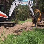 Abel Excavation on site digger
