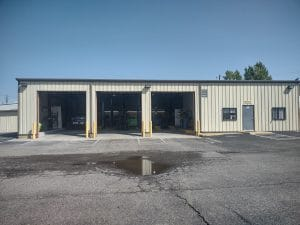 Service Bays and Office Entrance